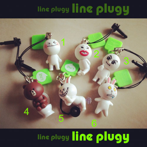line plugy - จุกกันฝุ่น ไลน์ โคนี่ มูน หมีบราว
