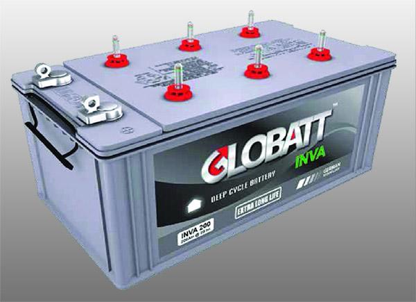 แบตเตอรี่ดีพไซเคิล ( Battery Deep cycle ) 45Ah 12V ยี่ห้อ GLOBATT ( INVA )
