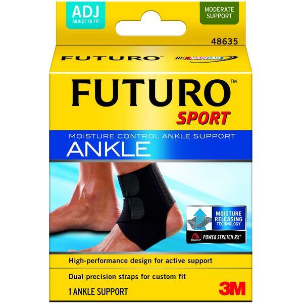 Futuro Sport Moisture Control Ankle Support ฟูทูโร่ อุปกรณ์พยุงข้อเท้าปรับกระชับได้และระบายความร้อน รุ่น 48635 (1อัน)