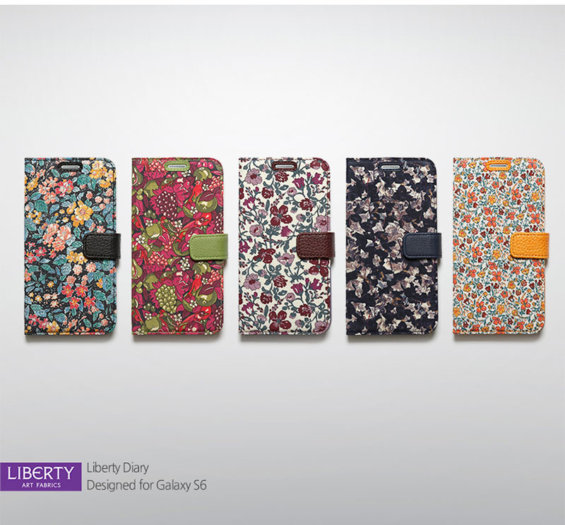 Zenus : Avoc [Liberty Diary]Fabric & Soft PU Cover Case For Samsung Galaxy S6