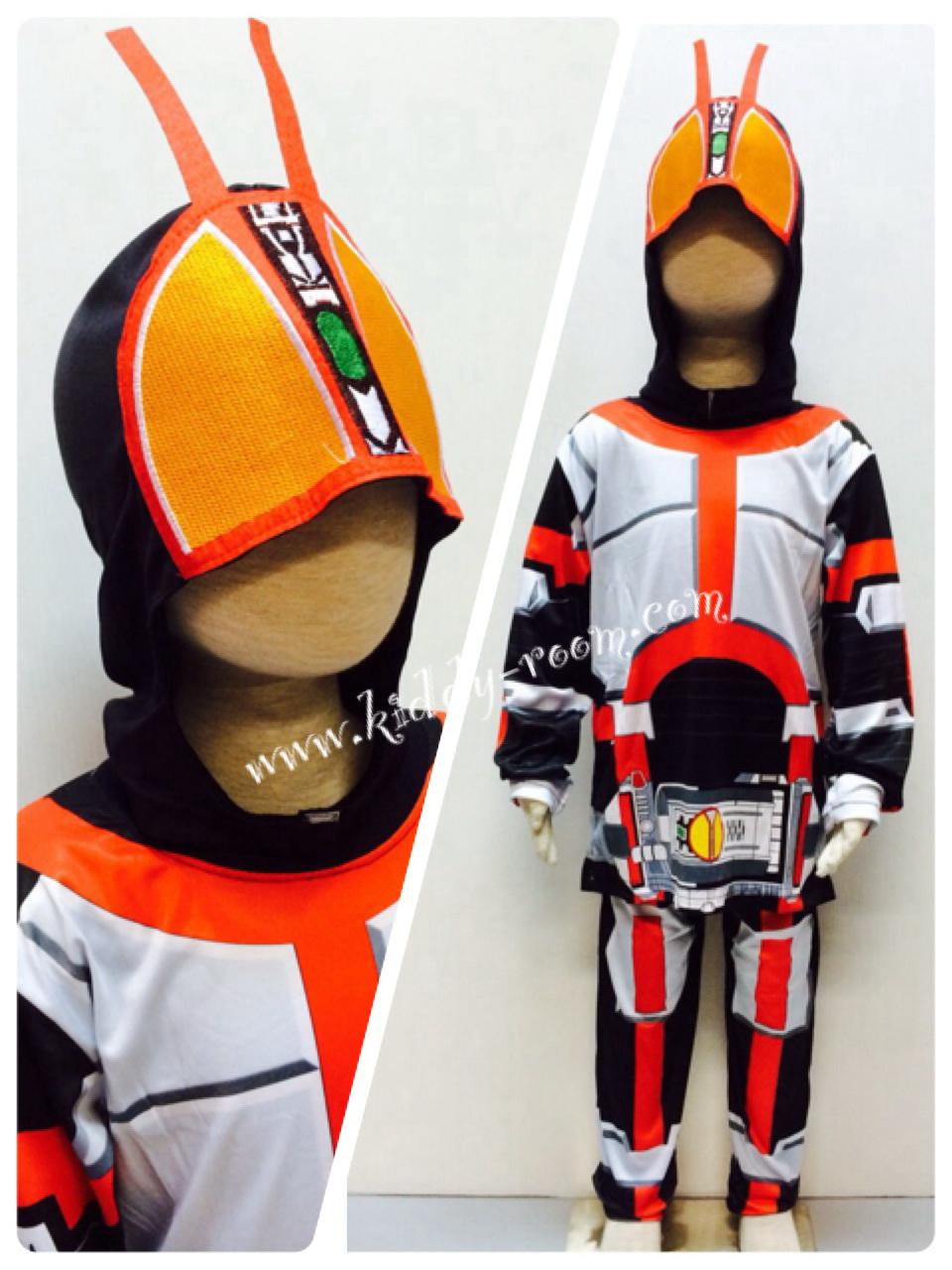 Masked Rider Faiz (งานลิขสิทธิ์) ชุดแฟนซีเด็กไอ้มดแดง มาค์ส ไรเดอร์ ไฟซ์ 3 ชิ้น เสื้อ กางเกง & หน้ากาก ให้คุณหนูๆ ได้ใส่ตามจิตนาการ ผ้ามัน Polyester ใส่สบายค่ะ หรือจะใส่เป็นชุดนอนก็ได้ค่ะ size S, M, L, XL