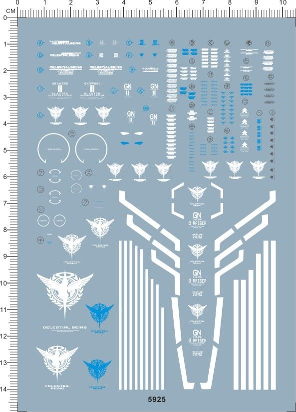 decals MG seven sword G stickers 5925