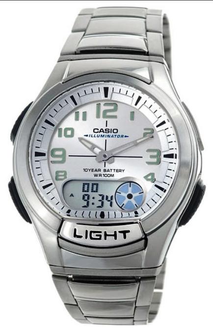 นาฬิกาข้อมือ คาสิโอ Casio Standard 10 Year Battery Analog รุ่น AQ-180WD-7BVDF