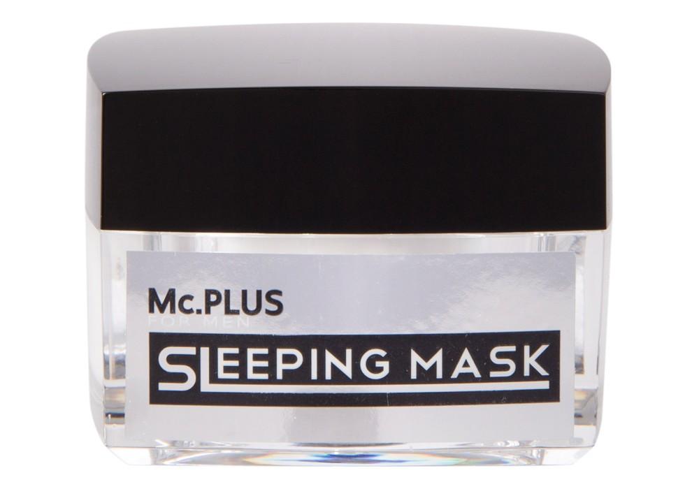 """Mc.PLUS Sleeping Mask พอกหน้าขาวใสขั้นเทพ """"ฟื้นฟูผิวหมองคล้ำหยาบกร้านของผู้ชายให้กลับมาขาวเนียนใสเพียงข้ามคืนด้วยYeast Mask"""" 15กรัม"""
