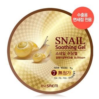 The Saem Snail Soothing Gel ปริมาณ 300 ml. Multi Gel Multi Gel ทาได้ทั้งใบหน้าและลำตัว ผสมสารสกัดจากเมือกหอยทากและว่านหางจระเข้