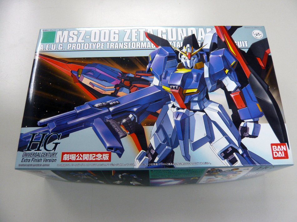 MSZ-006 ZETA GUNDAM Extra Finish Version 1/144 scale kit