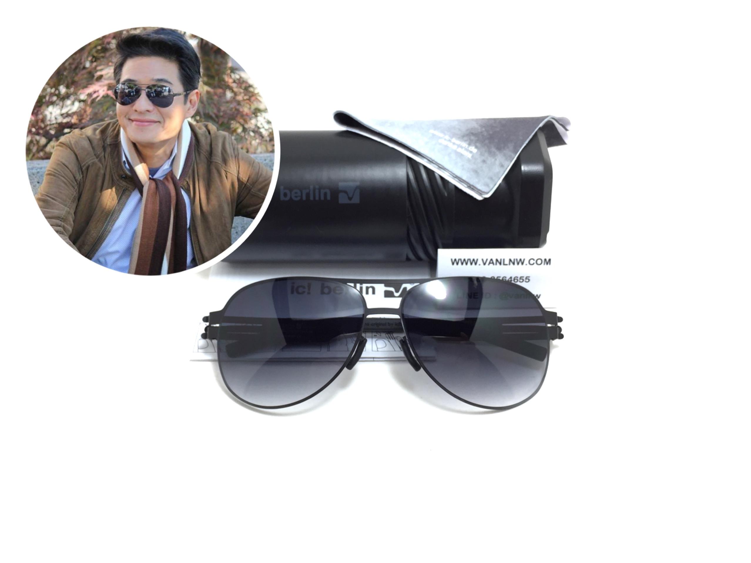 แว่นกันแดด ic berlin model natalia s.black 61-14 <ดำด้าน>