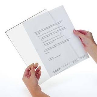 A4 ซองเอกสาร ติดผนัง แบบไม่เจาะผนัง แนวนอน ฟรี!! เทปกาว 2 หน้า