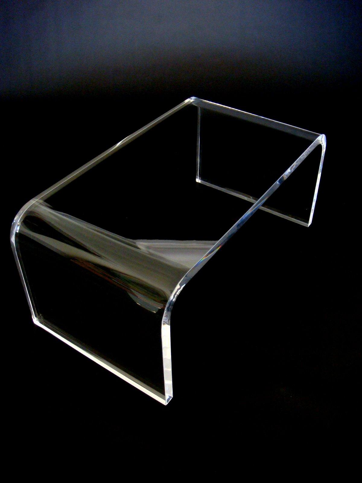 โต๊ะรับแขกอะครีลิค ดีไซน์ รูปตัว U 60x60x50cm