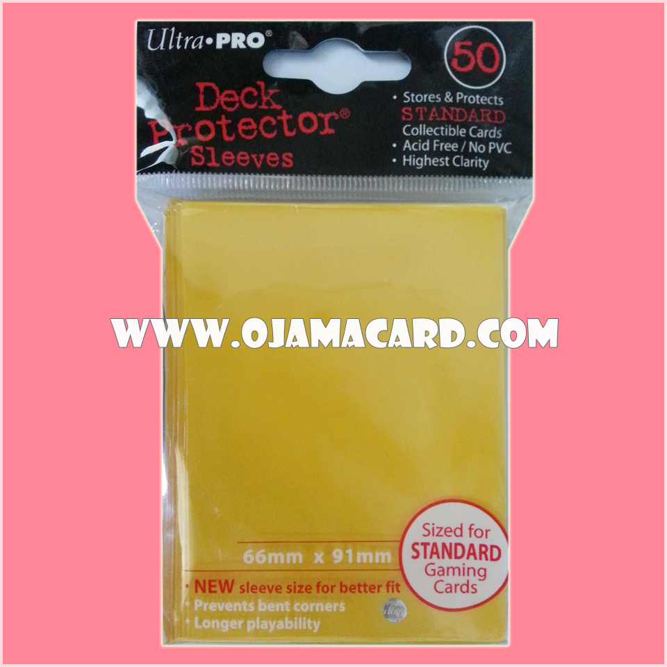 Ultra•Pro Standard Deck Protector / Sleeve - Yellow 50ct.