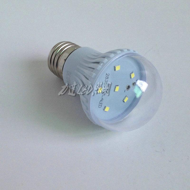 หลอดไฟ LED 3W 12V ขั้ว E 27 สีขาวอบอุ่น Wram white ( OEM )