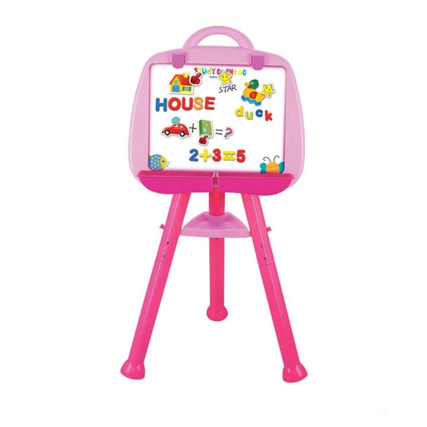 กระดานไวท์บอร์ดของเด็ก ปรับระดับได้ สีชมพู