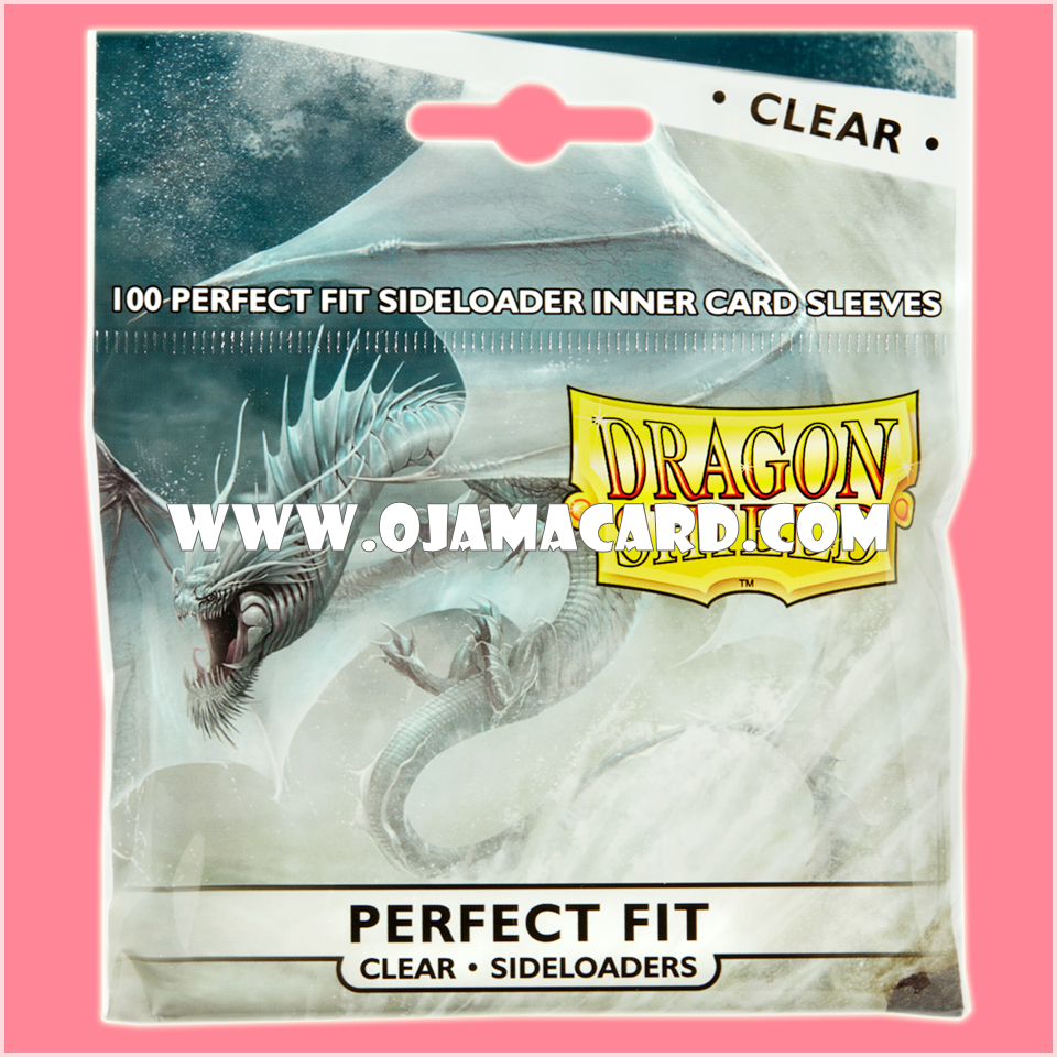 Dragon Shield Perfect Fit Sideloader Standard Size Inner Card Sleeves - Clear 100ct.