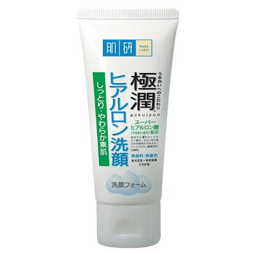Hada Labo (ฮาดะ ลาโบะ) SHA Hydrating Face Wash 100g. หลอดโฟม แถบข้างสีเขียวล้วน