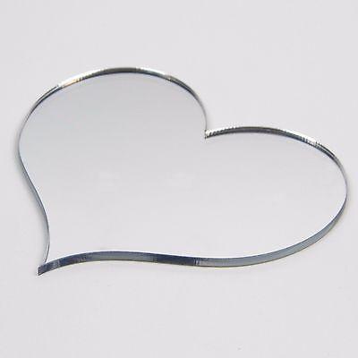 กระจกอะครีลิค รูปหัวใจ 30cm (10 ชิ้น)