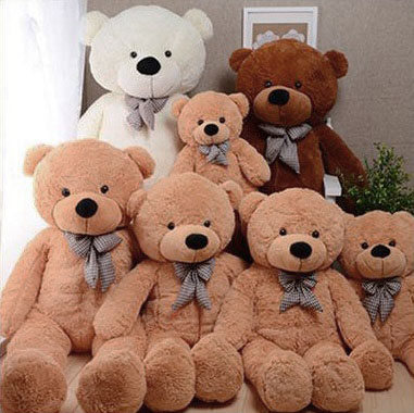 ตุ๊กตาหมีตัวใหญ่ขนาด 80 cm สีชมพู สีขาว สีน้ำตาลอ่อน สีน้ำตาลเข้ม