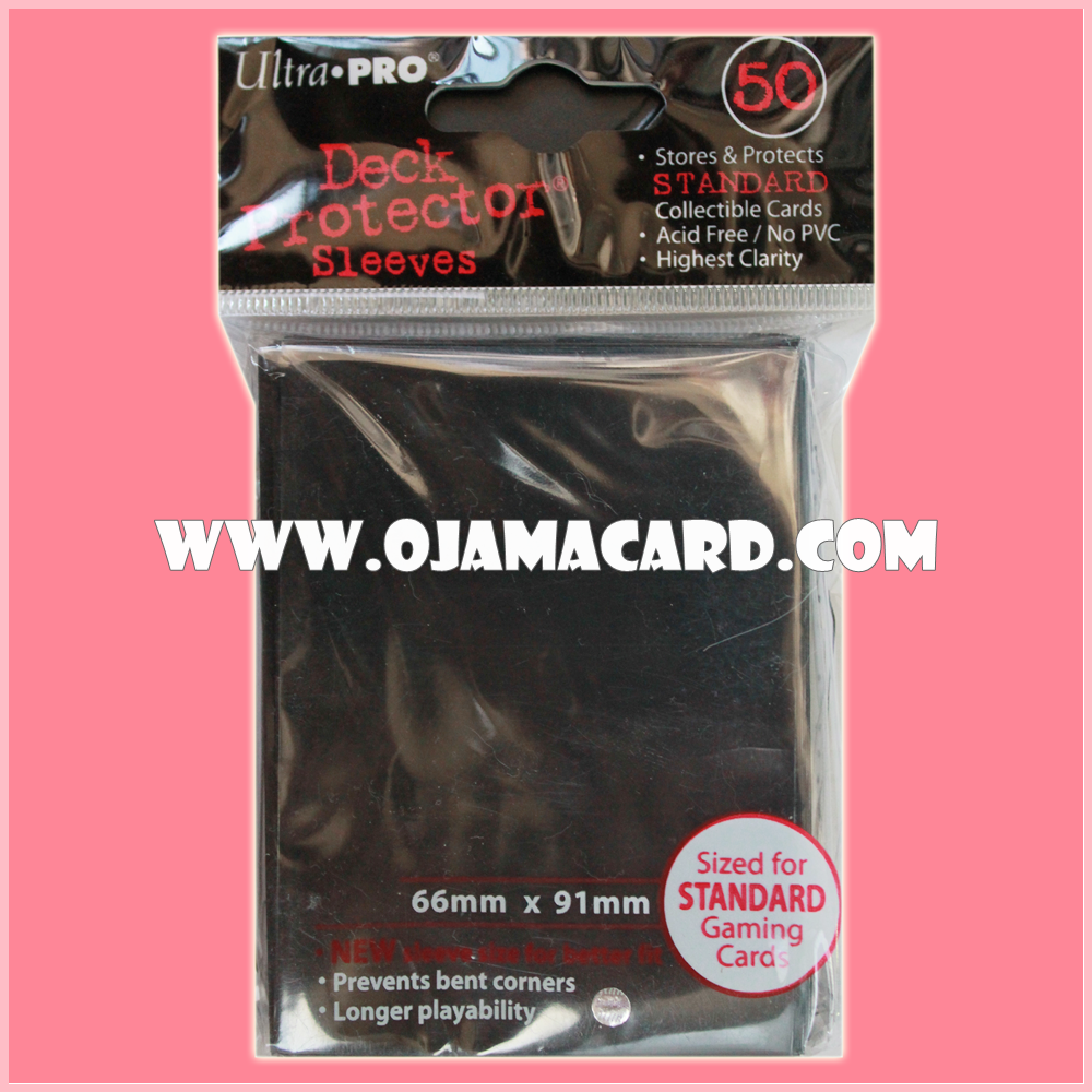 Ultra•Pro Standard Deck Protector / Sleeve - Black 50ct.
