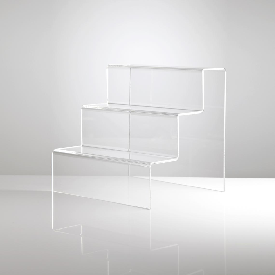 บันได อะคริลิค โชว์สินค้า 30x25x25cm (สั่งผลิตเท่านั้น ขั้นต่ำ 10 ชิ้น)