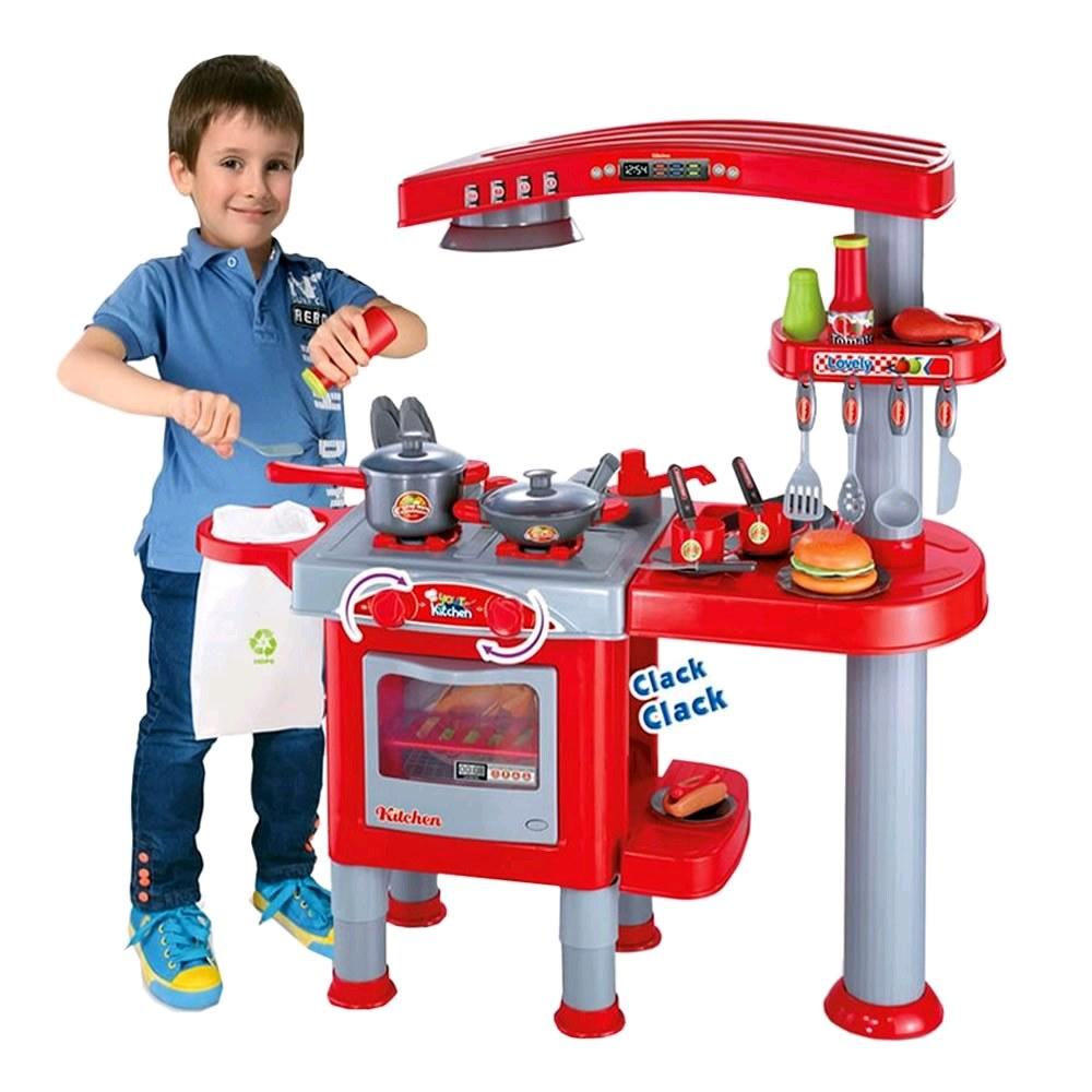 ชุดครัวใหญ่ของเล่นเด็ก ครัวเบอร์เกอร์ พร้อมอุปกรณ์มากมาย