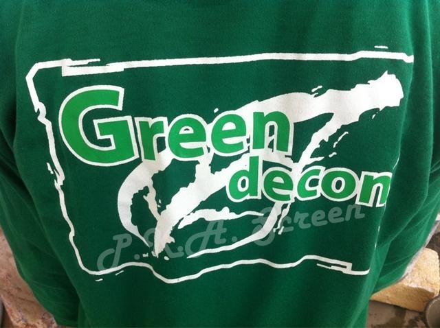 เสื้อคนงาน ก่อสร้างสีเขียว