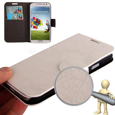 Case เคส Roots แบบพลิกแนวนอน Samsung GALAXY S4 IV (i9500) (White)