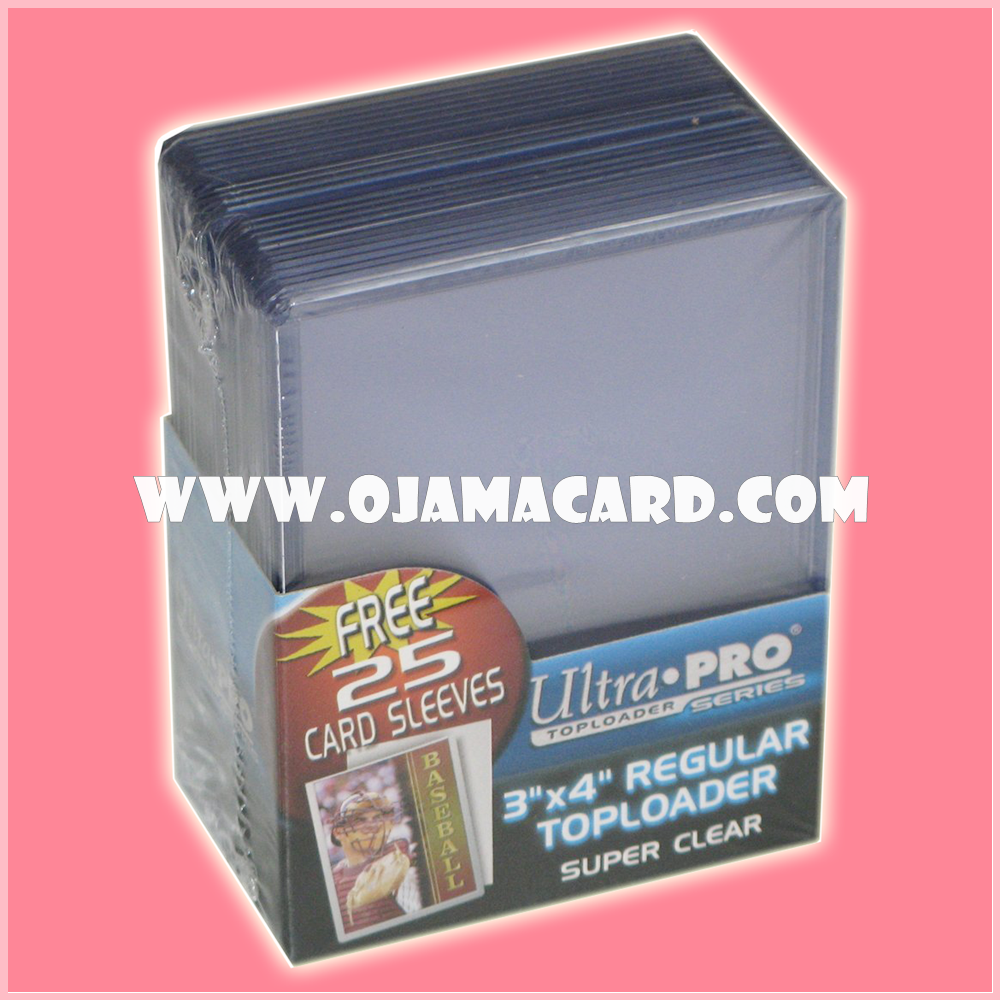 """Ultra•Pro 3"""" X 4"""" Clear Toploader 25ct."""