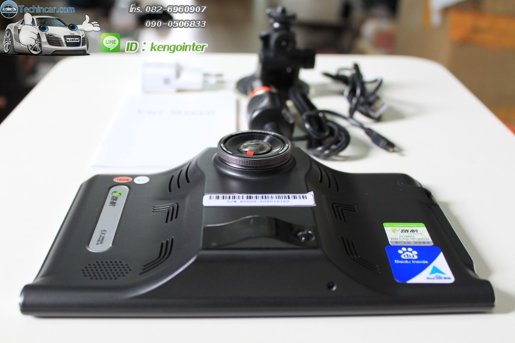 GPSนำทาง รุ่นGT999 16GB+AV-IN + กล้อง + เรดาห์ ระบบ Android CPU 2core 1.5Ghz 512DDRram 16GB memory + AV-IN