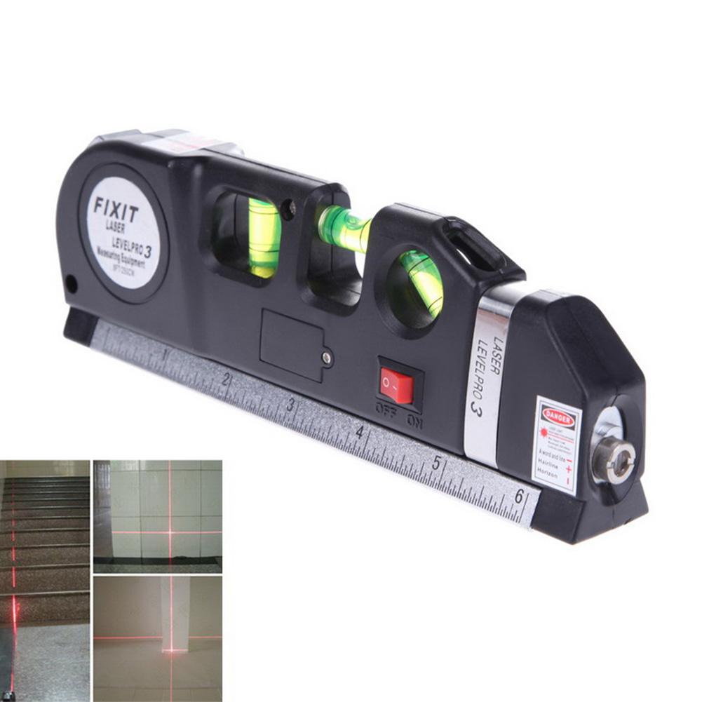 DL02 - เครื่องวัดระดับน้ำเลเซอร์ Fixit Laser Level Pro 3 พร้อมตลับเมตร