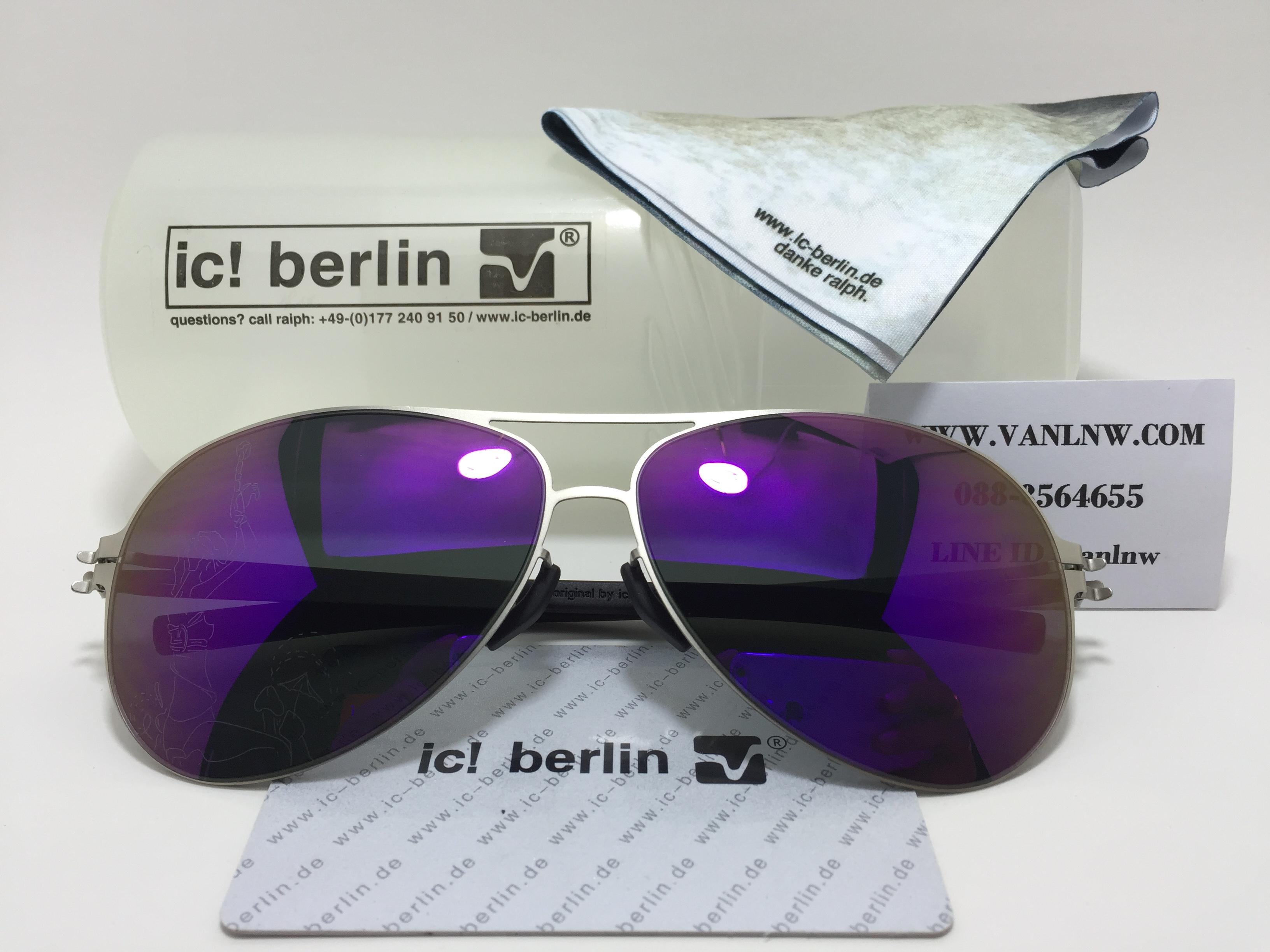 แว่นกันแดด ic berlin model christlan s. raf pearl <ปรอทม่วง>
