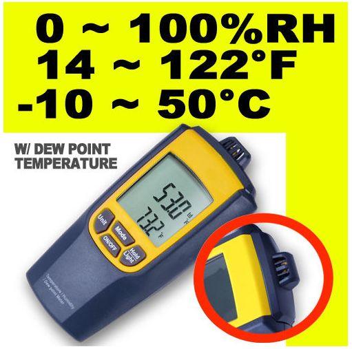 HY01-เครื่องวัดความชื้นสัมพัทธ์ (RH) อุณหภูมิ และจุดน้ำค้าง (Dew Point) แบบ 3 in 1