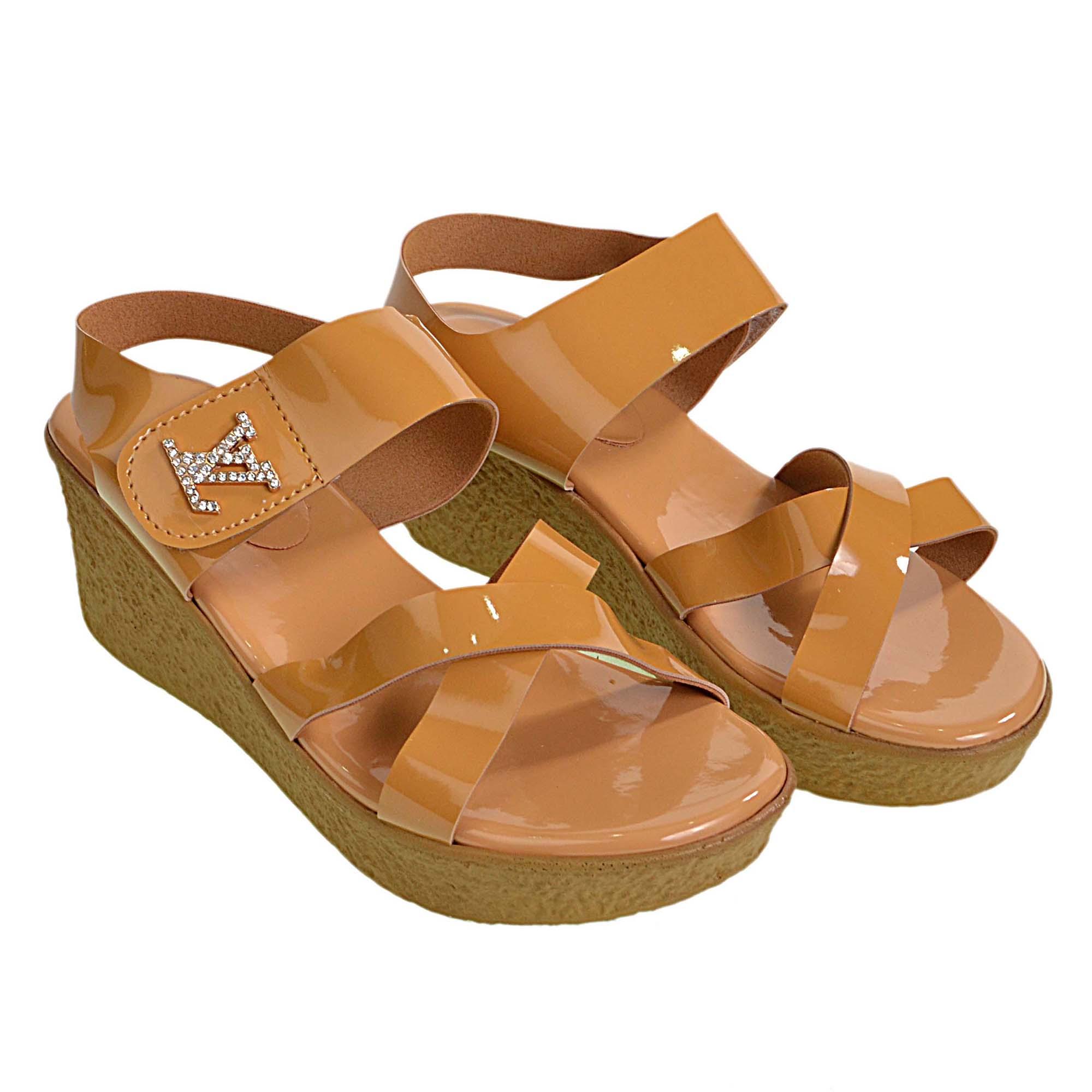 พร้อมส่ง Size 38 รองเท้าหนังเงา LV สีน้ำตาล น้ำหนักเบา ใส่สบาย