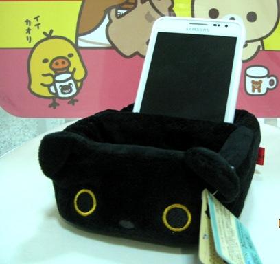 Rilakkuma ถาดใส่ของ 2 ช่อง ลายแมวดำ