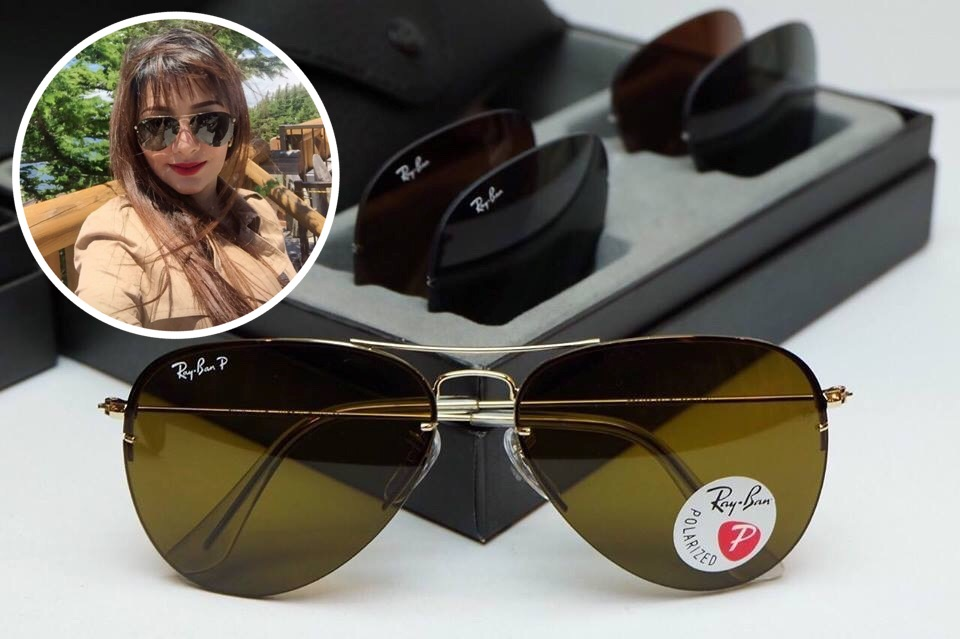 RayBan Flip Out Aviator RB3460 001/71 59-13 3N