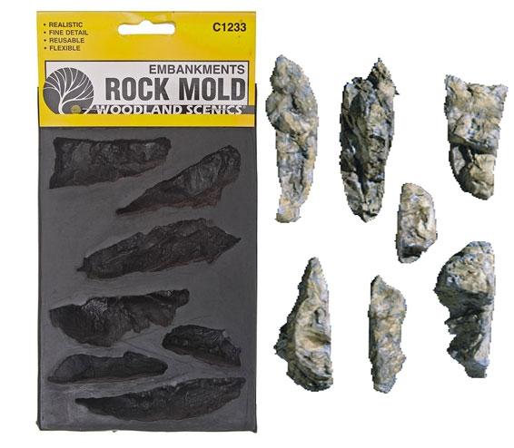 C1233 แม่พิมพ์หินเทียม ROCK MOLD-EMBANKMENTS