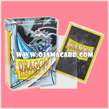 Dragon Shield Small Size Card Sleeves - Clear • Matte 60ct.