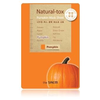 The Saem Natural-tox Pumpkin Mask Sheet มาส์กชีท ที่สกัดจากฟักทองมีเบต้าแคโรทีน ช่วยให้ผิวชุ่มชื้น สุขภาพดี