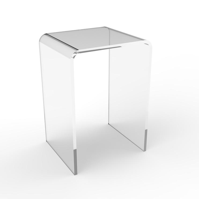โต๊ะอะครีลิค U คว่ำ 30x30x60 cm 10mm โต๊ะข้าง โต๊ะวางของ