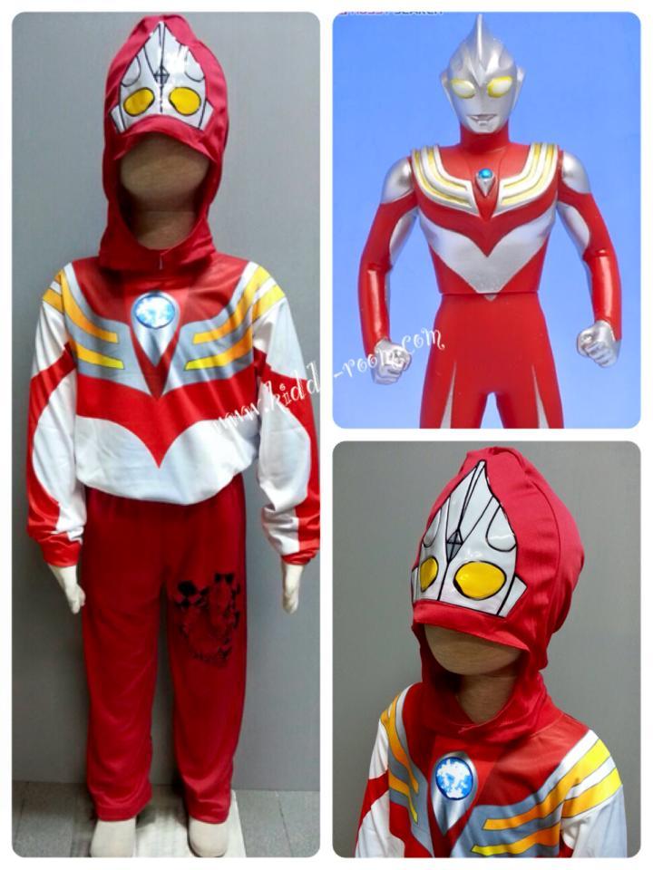 Ultraman Tiga - อุลตร้าแมนทีก้าแปลงได้ 3 ร่างค่ะ ชุดนี้เป็นร่างของ Power Type (งานลิขสิทธิ์) 3 ชิ้น เสื้อ กางเกง & หน้ากากให้คุณหนูๆ ได้ใส่ตามจิตนาการ ผ้ามัน Polyester ใส่สบายค่ะ หรือจะใส่เป็นชุดนอนก็ได้ค่ะ