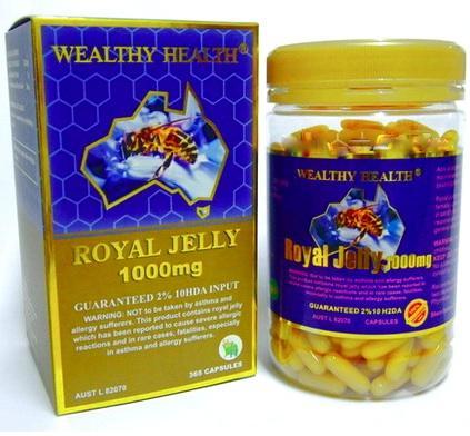 Wealthy Health Royal Jelly รอยัลเยลลี่ นมผึ้ง เข้มข้น 2% 365 แคปซูล ทานได้ 1 ปี Wealthy Health Royal Jelly รอยัลเยลลี่ นมผึ้ง เข้มข้น 2% 365 แคปซูล ทานได้ 1 ปี