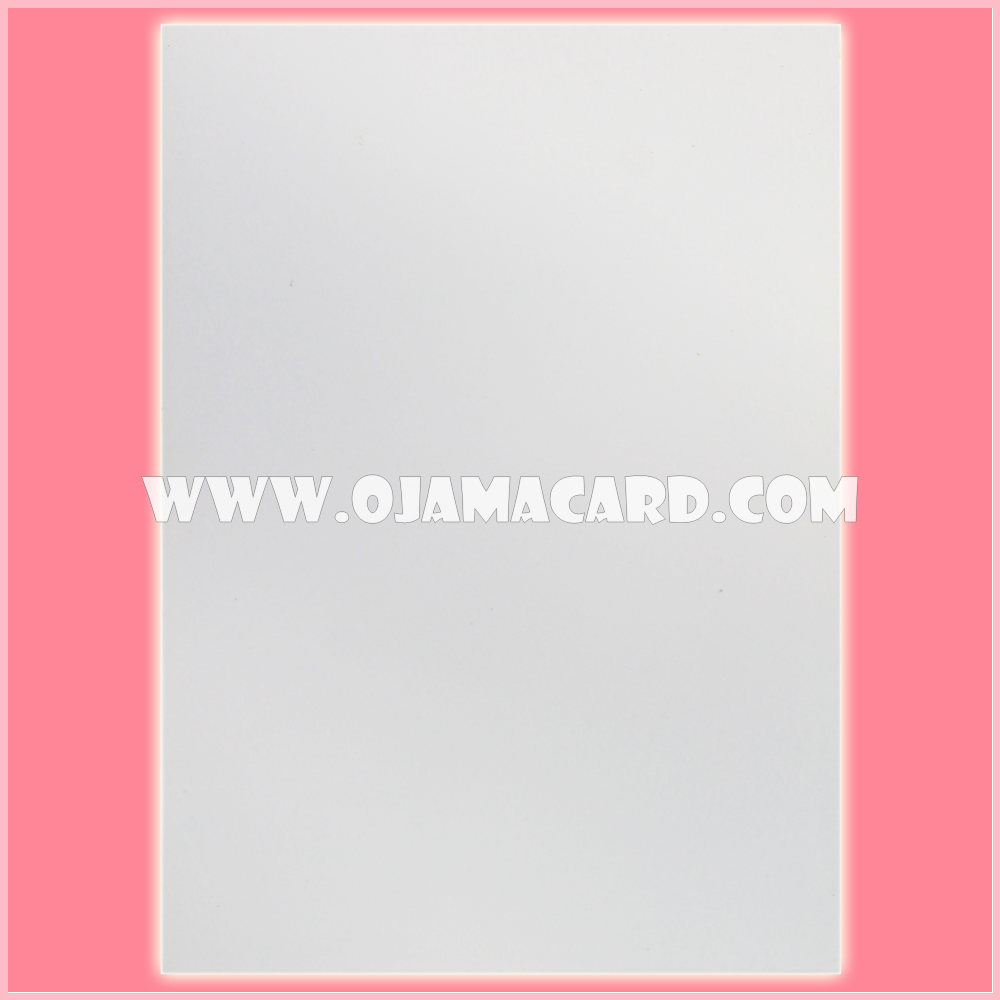 Standard Size Card Protector / Sleeve - Transparent / White Matte [Used] x4