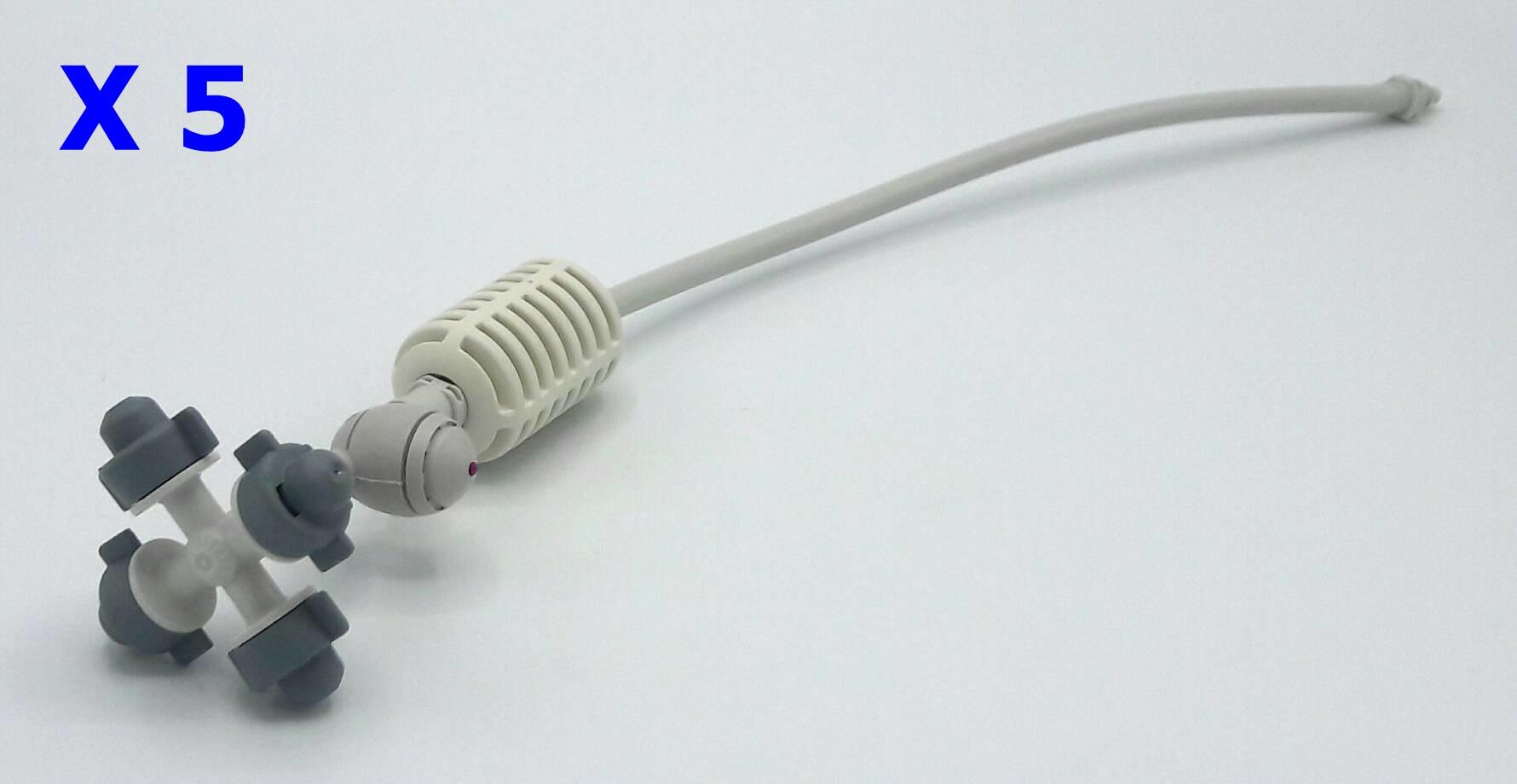 หัวพ่นหมอก 4 ทาง เนต้าฟิล์ม 0.6 มม. สายยาว 32 ซม. แบบเสียบกับท่อ PE ( NATAFIM ) X 5