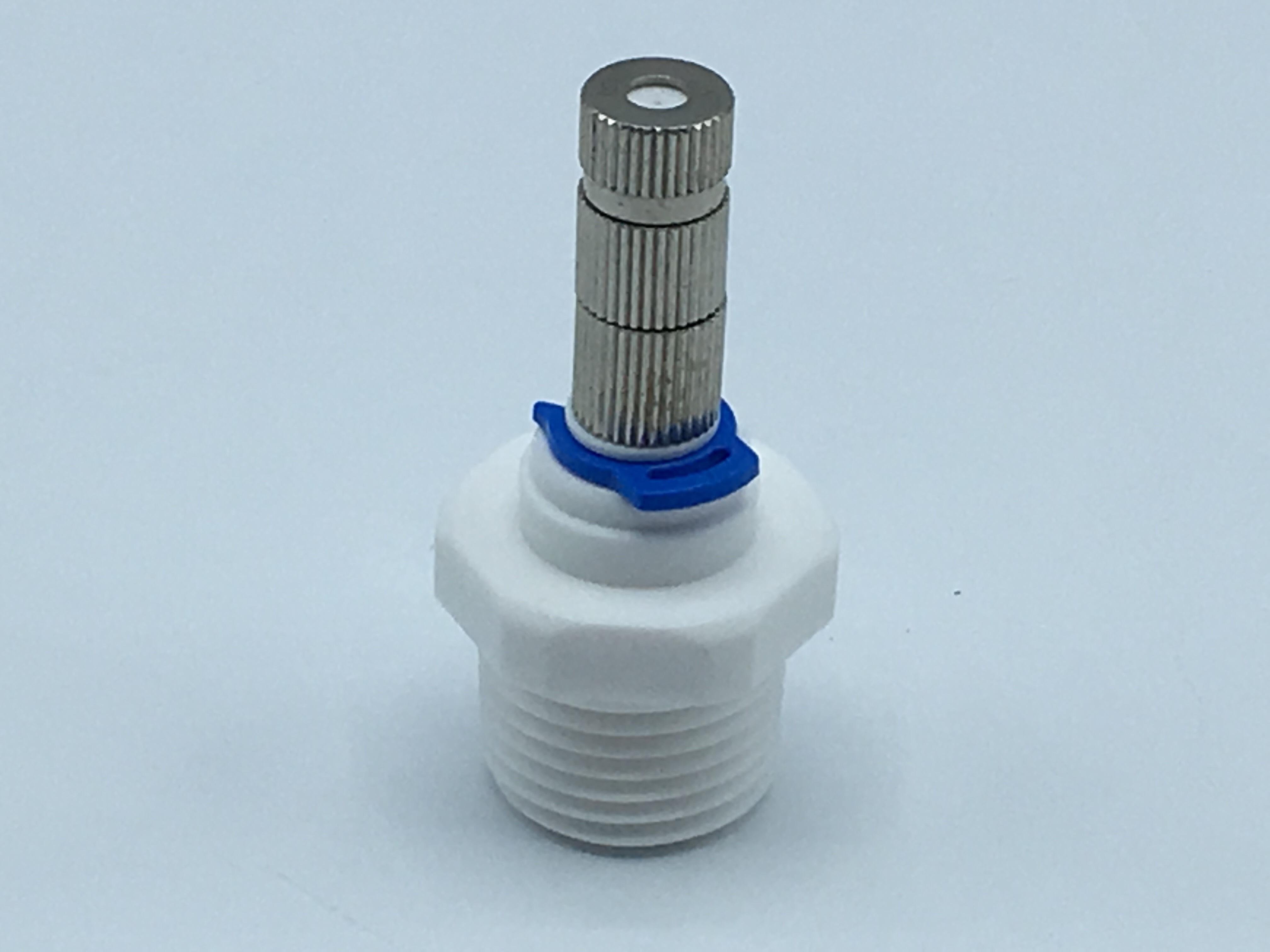 """หัวพ่นหมอกละเอียด 0.1 มม. แบบมีกรอง + ข้อต่อพลาสติกเกลียวนอก 1/2"""" ( ใช้ต่อกับท่อ PVC 1/2"""" เหมาะสำหรับปั๊ม 9 บาร์ขึ้นไป )"""