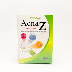 Acna z ผลิตภัณฑ์เสริมอาหาร ตัวช่วยสำหรับผู้มีปัญหาสิวและริ้วรอยแผลเป็น everfame Acna-z ลดที่ต้นเหตุสิว หาซื้อสินค้าราคาถูกของแท้ได้ที่นี่