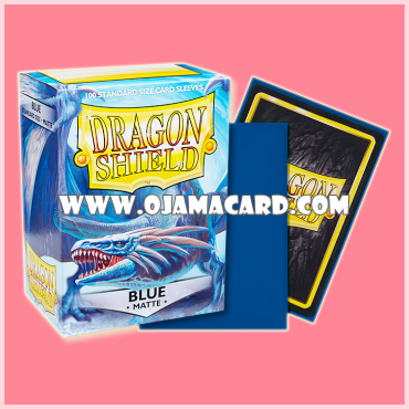Dragon Shield Standard Size Card Sleeves - Blue • Matte 100ct.