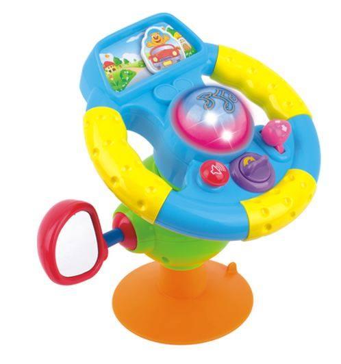 พวงมาลัยหัดขับมีจุ๊บดูดพื้น ของเล่นเด็ก