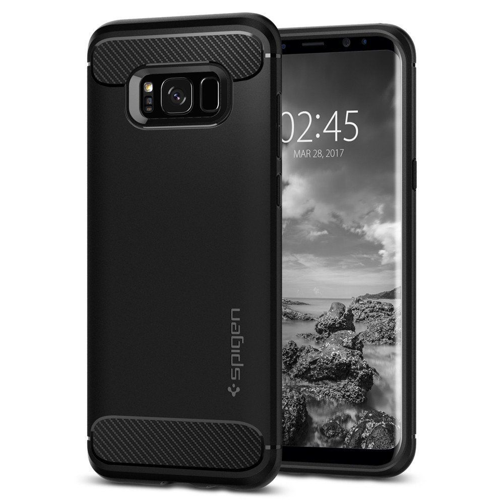 Spigen® : Rugged Armor Shockproof TPU Case Cover for Samsung Galaxy S8 / S8 Plus