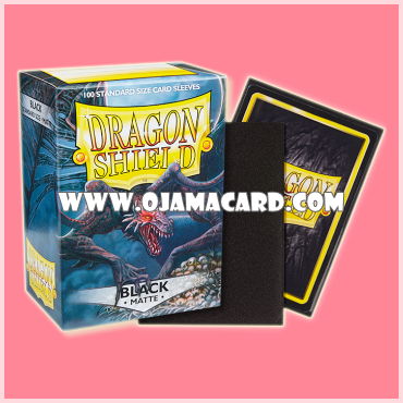 Dragon Shield Standard Size Card Sleeves - Black • Matte 100ct.
