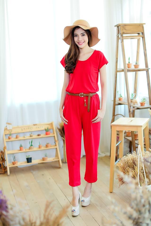 Jumpsuits-สีแดง