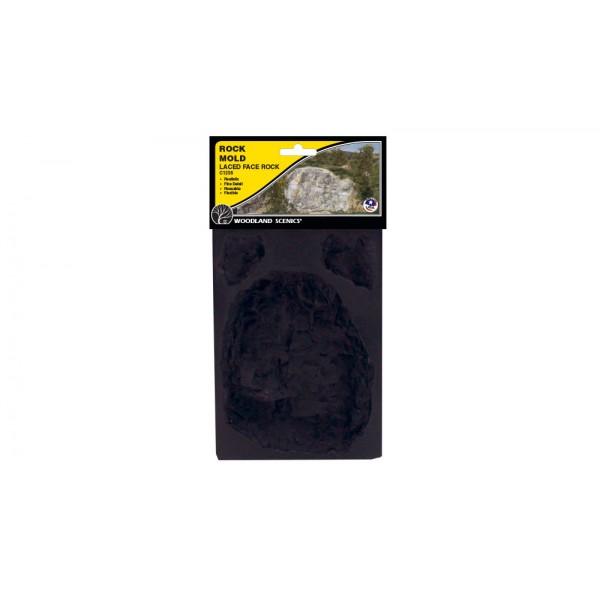 C1235 แม่พิมพ์หินเทียม สำหรับหล่อแบบภูเขา Laced Face Rock