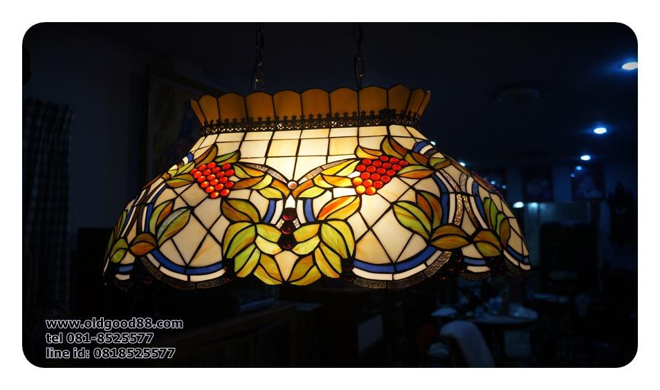 โคมไฟเพดาน stainglass ทรงรี รหัส15261ss3